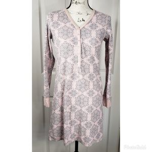 Charter Club Intimates Pink & Gray Sleep Dress